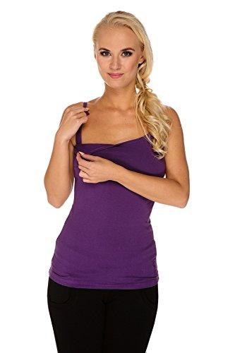 My Tummy Maternité top pour l'allaitement Basic violette