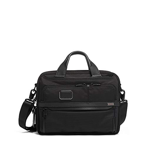 TUMI - Alpha 3 Small Screen Expandable Laptop Brief Briefcase - 13 Inch Computer Bag for Men and Women - Black