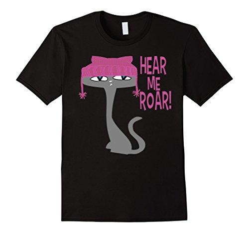 Hear Me Roar Pink Pussycat Hat T-shirt In Various (Kitty Denim Shirt)