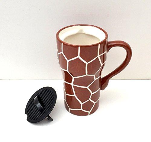 GIRAFFE Ceramic Travel Mug 6-1/4\