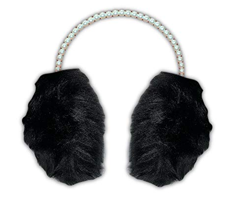 Warm Winter Faux Fur Earmuffs/Ear Warmers for Women or Girls w/Pearl Headband