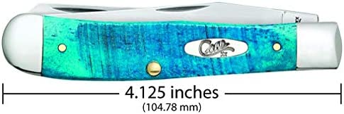 CASE XX WR Pocket Knife Trapper Caribbean Blue Jig Bone Item 25592 – 6254 SS – Length Closed 4 1 8 Inches