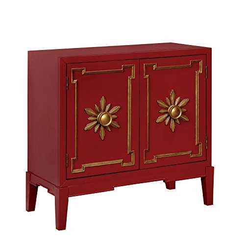 HOMES: Inside + Out IDF-AC304RD Dorris Hallway Chest, Red