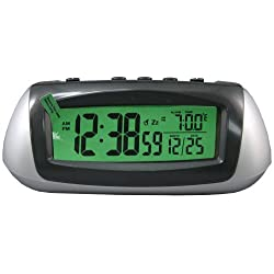 Equity by La Crosse 65903 Hybrid Solar Desktop LCD Alarm Clock