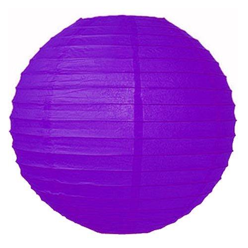 Papier Laternen 14 inches violett