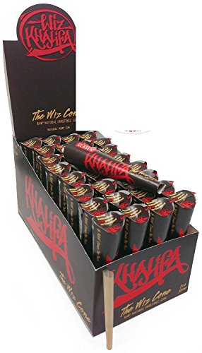 Price comparison product image 192 Wiz Raw Cones (FULL CASE), Wiz Khalifa Raw Natural Unrefined Cones Rolling Paper 1.25 Size, 32 Packs of 6 Cones + Beamer Smoke Limited Edition Sticker
