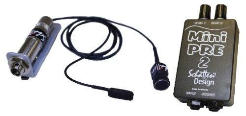 Schatten BJ-02M Banjo Pickup w/Microphone and Mini-Pre 2 Dual Channel Preamp ()