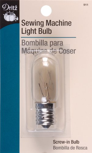 Amazon.com: Dritz 910 Sewing Machine Incandescent Light Bulb, Push-In: Arts, Crafts & Sewing