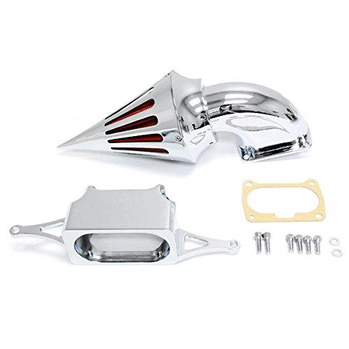 Krator 2002-2010 Yamaha Warrior Cruiser Chrome Billet Aluminum Cone Spike Air Cleaner Kit Intake Filter Motorcycle (Billet Warrior Yamaha)