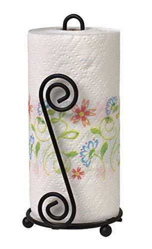 Spectrum Diversified Scroll Paper Towel Holder Black 44410