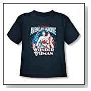 Wonder Woman - American Heroine Toddler T-Shirt In Navy