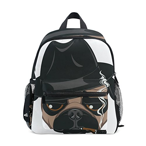 GIOVANIOR Funny Pug With Cigar Lightweight Travel School Backpack for Boys Girls - Cigars Little Light