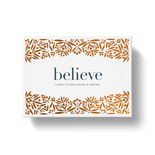 Believe Boxed Note Card Set: Cards to Encourage & Inspire — 12 blank cards (3 each of 4 designs) with printed envelopes