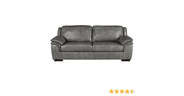 Amazon.com  Ashley Furniture Signature Design - Islebrook Contemporary Leather  Sofa - Iron  Kitchen   Dining 13dade515
