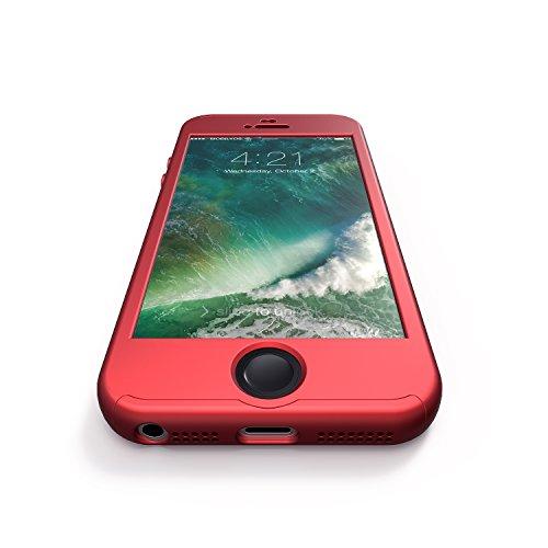0fa729a9324 Funda iPhone SE 360 Grados + Cristal Templado, Mobilyos® [ 360 ° ] [