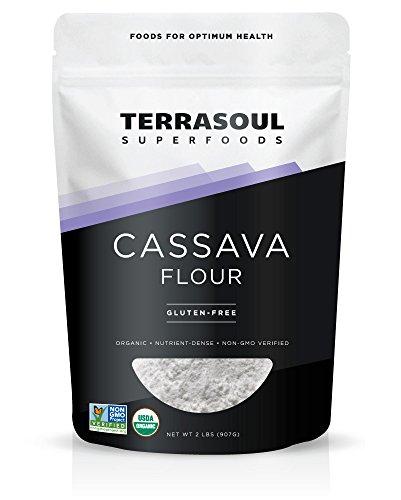 Terrasoul Superfoods Organic Cassava Flour (Gluten-Free), 2 lbs