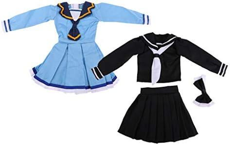 全2スーツ 可愛い 人形ドレス スカート ドール制服 1/3 BJDドールのため