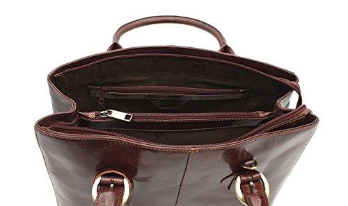 El Pago De Visa Visconti collezione Vintage italiano ADRIANA Leather afferrare / spalla borsa ITL77 rosso Marrone scuro Barato El Más Barato Mejor Venta Para La Venta 6QYbs