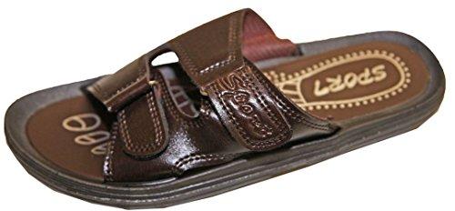 Flip Kunstlær Mule Menneske Sport flop Shoe Sandalette Spjeldet Lukking Sandal Borrelås Marrona aBqw54Sfxx