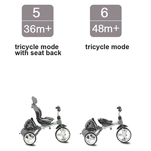 Kiddi-o by Kettler 6-in-1 Ride: Safe Stroller and Multi-Trike, Gray, Youth Ages 2.5+ by Kiddi-o (Image #4)