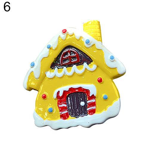 (Car Air Freshener Perfume Clip, Christmas Car Vehicle Perfume Air Freshener Solid Fragrance Vent Outlet Clip - 6#)