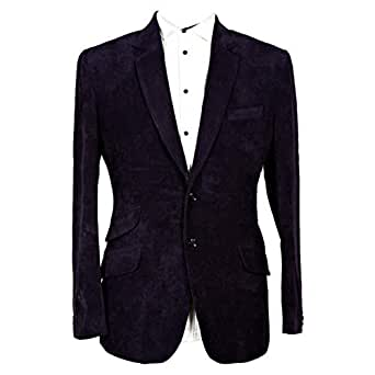 Libas Riyaz Gangji Purple Corduroy Blazer For Men