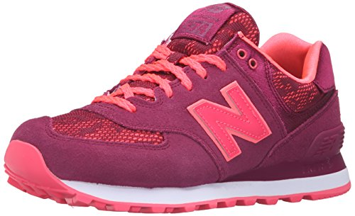 New Balance Womens 574 Classics Traditionnels Suede Trainers Deep Jewel/Nebula