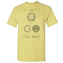 Clock Face Dial T-Shirt, Clock Maker Gift, Timepiece, Watchmaker, Antique Clock, Clocksmith, Clock Making, Clockpunk Cornsilk (Medium)