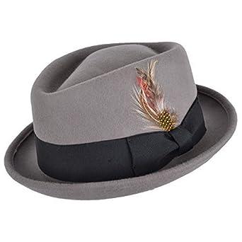 Cappello pork pie Cappello da uomo - Diamante CORONA - ripiegabile - Grigio, Navy, marrone o nero