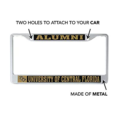 Desert Cactus University of Central Florida UCF Knights NCAA Metal License Plate Frame for Front Back of Car Officially Licensed (Alumni): Automotive