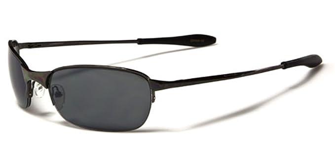 X-Loop Gafas de sol Hombres Mujeres Wrap ovalada semi sin ...