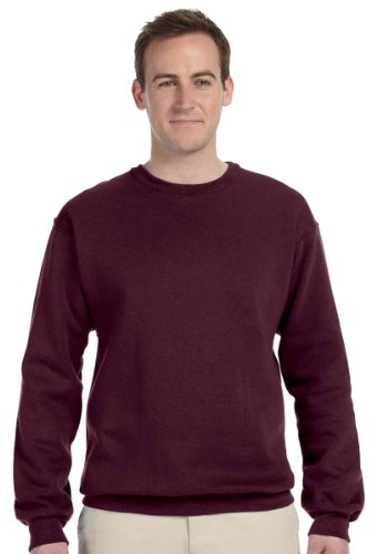 Jerzees Men's NuBlend Crew Neck Sweatshirt, Burnt Orange, X-Large (People Crewneck Sweatshirt)