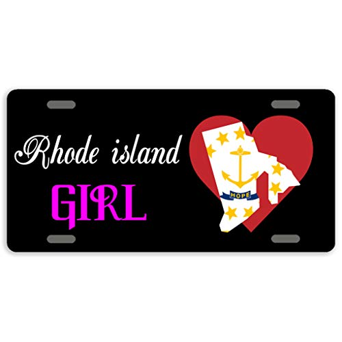 State Rhode License Plate Island (Eprocase Custom Personalized State License Plate Aluminum Car Plate Decorative Car Tag Sign Metal Auto Tag Front License Plate 4 Holes (12
