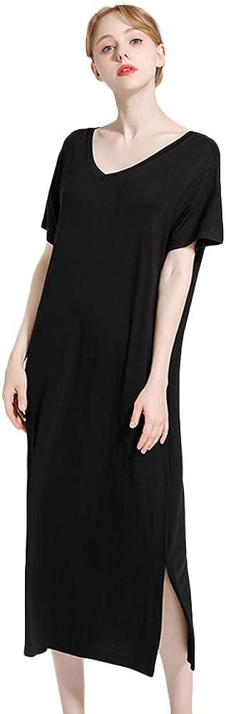 Nanxson Camicia da Notte Casual da Notte con Scollo a V a Manica Corta da Donna SQW0013