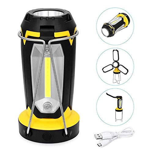 DIFUL Multi-Function Outdoor Camping Light, Portable LED Camping Light, LED Lantern Light, LED Flashlight, LED Flood Llight, Small Table Lamp, 2200ML Lithium Battery - Emergency, Hurricane
