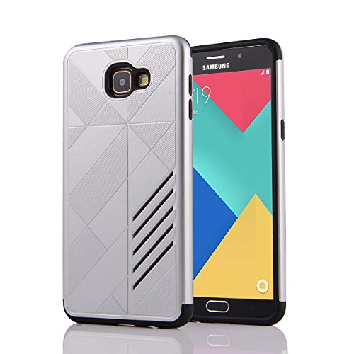 Slim Fit Hybrid Shockproof Case for Samsung Galaxy A9 (Silver) - 1