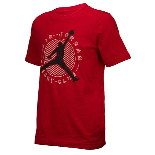 Boys Youth Air Jordan Crew Neck Tee (L, Red Flight Club)