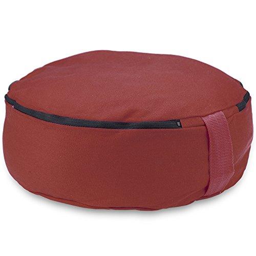 Crown Sporting Goods 15'' Round Heavy Canvas Zafu Meditation Cushion (Red) by Crown Sporting Goods