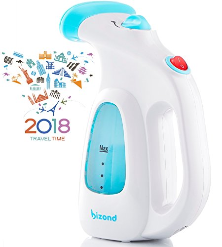 Steamer for Clothes, Garment, Fabric - Portable, Handheld Steamer - Safe and Little Handy, Anti-Spill - Home and Travel - Compact Mini Steamer for Shirt, Dresses, Curtain with Accessories (White)