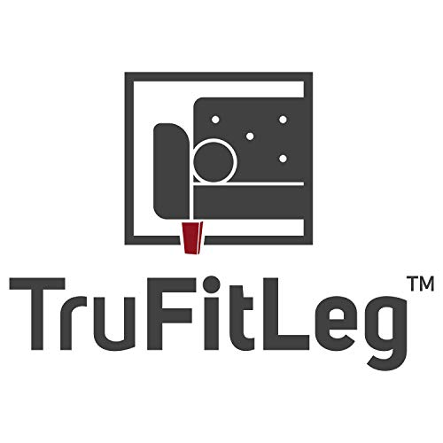 """Leg Daddy TruFitLeg FRODE - 4"""" Walnut Finish Square Tapered Wooden Sofa Legs, Fits on All Furniture with Hanger Bolt Attachments (Set of 2)"""