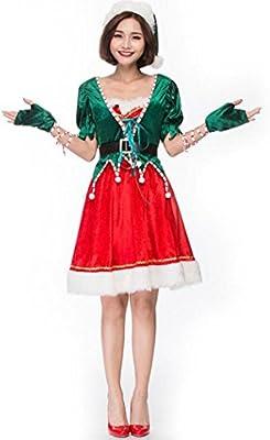 MFFACAI Disfraz De Miss Santa Claus para Mujer Traje De Fiesta De ...