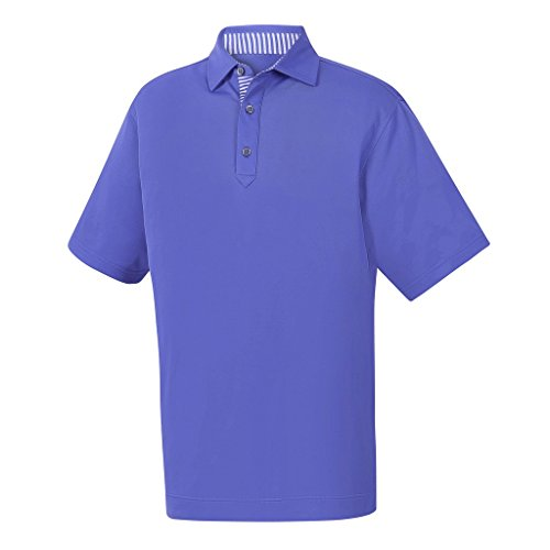 (FootJoy ProDry Performance Stretch Pique Golf Polo 2018 Light Purple X-Large)