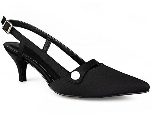 Noir 36 Greatonu et Espigones Classics Chaussures A des à Sangles Boucles Talon Les Femmes des sur pour Le Dos avec 41 EU R4ASRqWx