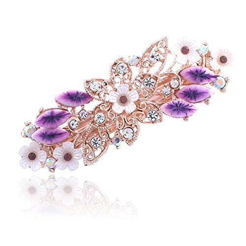 Flower Barrettes Resin Foral Hair Clip Barrette Cute Hairpin Headwear Accessories Gift For Woman Girls 6 Colors,34B