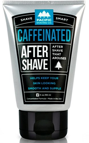 Pacific Shaving Company Caffeinated Aftershave - Helps Reduce Appearance of Redness, With Safe, Natural, and Plant-Derived Ingredients, Soothes Skin, Paraben-Free, Made in USA, 3.4 oz