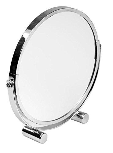 Home Basics Heavy Duty Chrome Plated Steel, Cosmetic Make-up Bathroom Round Mirror, - Bathroom Removing Mirrors Brackets