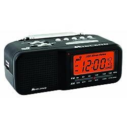 Midland WR11 AM/FM Clock Radio with NOAA All Hazard Weather Alert