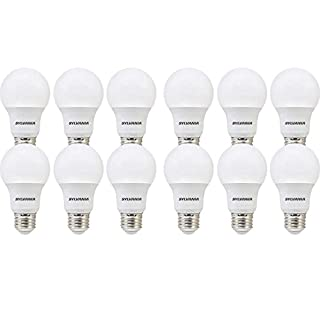 SYLVANIA General Lighting 74470 SYLVANIA, 60W Equivalent, LED Bulb, A19 Lamp, 12 Pack, Day Light, Energy Saving & Longer Life, Value Line, Medium Base, Efficient 8.5W, 5000K, Daylight, 12 Count