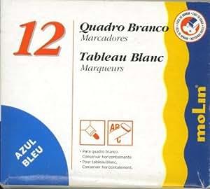 Molin RWB230-12-3 - Caja de 12 rotuladores de pizarra, color azul