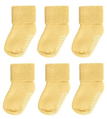 Socks for Toddler Girls,Mossio 6 Pack Kids Thermal Fleece Socks 0-12 Months -